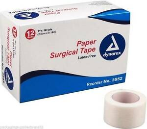 Adhesive Paper Surgical Tape Latex Free 1 x10 Yards 24 Rolls Ms15365