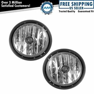 Fog Driving Lights Lamps Left Right Pair Set For 01 10 Freightliner Columbia
