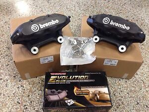 New 2008 10 Chevy Cobalt Hhr Ss Lnf Turbo Brembo Calipers W Pads Pin Kit