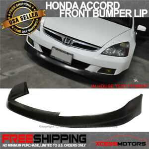 Fits 06 07 Honda Accord 2dr Front Bumper Lip Spoiler Hfp Style Pu