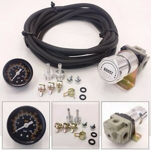 Universal Silver Turbo Manual Boost Controller With Gauge 1 150 Psi Mbc D15 D16
