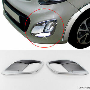 2011 2012 Picanto morning Chrome Fog Light lamp Cover Moulding Trim K 030