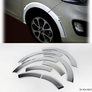 2011 2012 Picanto morning Chrome Wheel Arch Fender Cover Molding Trim K 933