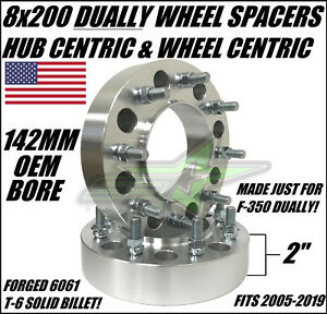 8x200 Wheel Spacers Hub Centric Fits Ford F 350 Dually Heavy Duty Billet 05 19