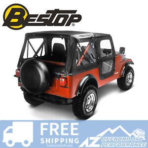 Bestop Replace A Top Door Skins Clear Windows Black Crush For 76 83 Jeep Cj5