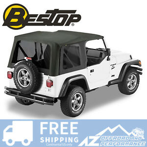 Bestop Sailcloth Replace A Top Tint Black Crush For 97 02 Jeep Wrangler Tj
