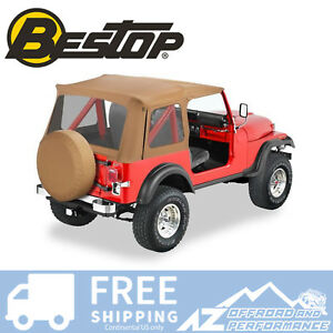 Bestop Supertop Replacement Skin Clear Windows Spice For 76 95 Jeep Cj7 Wrangler