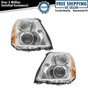 Headlight Headlamp Hid Xenon Left Lh Right Rh Pair For 06 11 Cadillac Dts