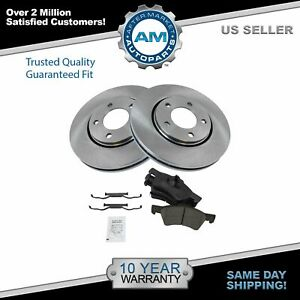 Front Ceramic Brake Pad Disc Rotor Kit For Grand Caravan