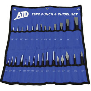 Punch And Chisel Set Atd Tools 29 Piece 729