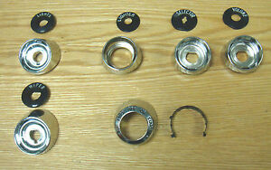 1957 Chevy Chrome Dash Bezel Set Complete Set Of 6 With Indicators New