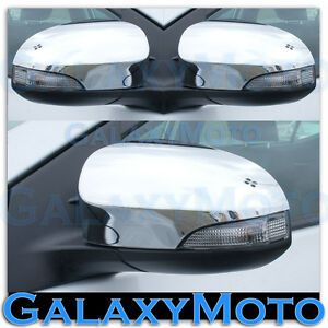 2012 2015 Toyota Camry Triple Chrome Plated Mirror With Turn Signal Cover Trim