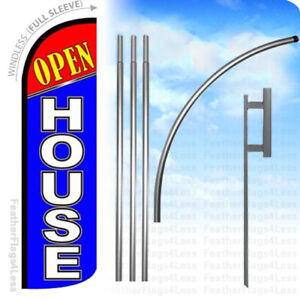 Open House Windless Swooper Flag Kit Feather Banner Sign Bq