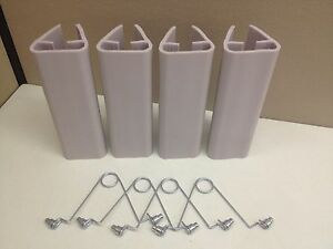 Lot Of 4 New 9 Plastic Ridg u rak Pallet Rack Upright Post Protector W Clips