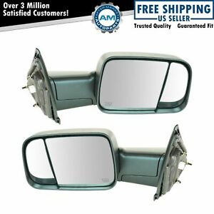 Mirror Power Heated Towing Side View Lh Rh Pair For Dodge Ram Truck 1500 2500