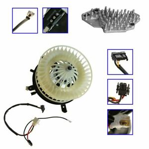 Heater Blower Motor With Fan Cage Resistor Kit Set For Mercedes Benz Mb E class