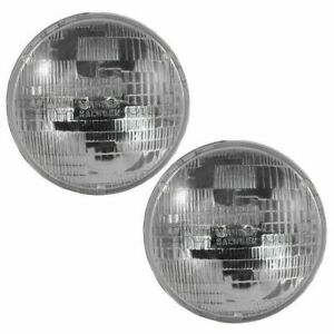 Round Shaped 3 Prong Sealed Beam Headlights Pair Set For Toyota Pickup Truck Gm