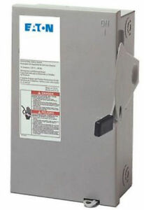 Eaton Dg321ngb 30 Amp 3 Pole Fusible General Duty Safety Switch Indoor