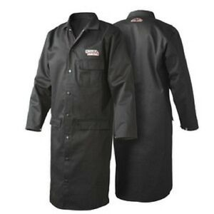 Lincoln Black Flame Retardent Lab Coat Medium k3112 m