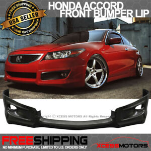 Fits 08 10 Honda Accord 2dr Front Bumper Lip Spoiler Hfp Style Urethane