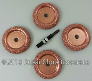5pc Tire Changer Inner Liner Buffer Wheels For Radial Repair Patch