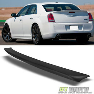 11 18 Chrysler 300 300c 300s Factory Style Rear Trunk Spoiler Lip Matte Black