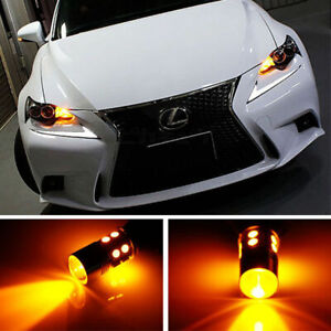 No Hyper Flash Amber 7440 T20 Cree Led Bulbs For Front Rear Turn Signal Lights