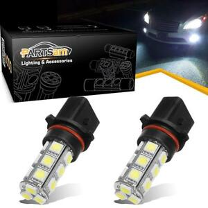 2pc White 18 5050 P13w Led Bulbs For Chevy Camaro Fog Light Daytime Running Lamp