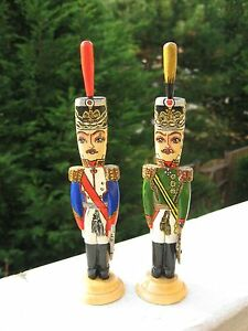 Vintage Folk Art Hand Decorated Soldiers Figures War 1812 Russia