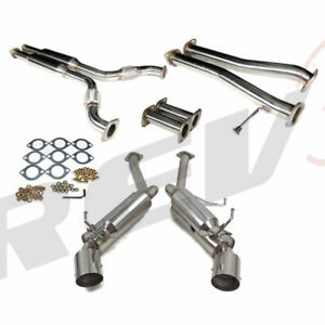 Rev9 Stainless Steel Dual Cat Back Echaust Fit 03 08 350z 03 06 G35 Coupe