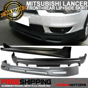 Fits 08 15 Mitsubishi Lancer Jdm Front Rear Bumper Lip Spoiler Side Skirt Pp
