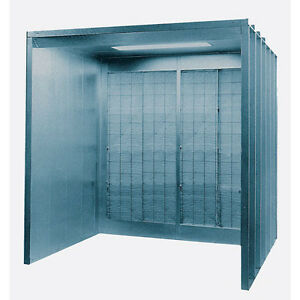 Open Front Industrial Spray Booth 1 5 Hp Motor 1 Light 8 W X 7 H X 5 8574