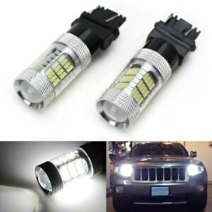 White 54 Smd Reflector Led Bulbs For Chevy Gmc Dodge Ford Daytime Running Lights