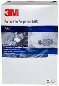 3m 8210 Dust Masks N95 Particulate Respirator 20 box 4 Boxes Ms92530