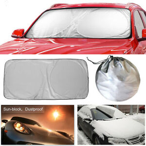 Jumbo Foldable Auto Car Suv Sun Shade Visor Block Front Windshield Snow Cover