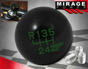 For Bmw Euro Dtm 6 Speed Racing Round Ball Type Round Shift Knob Black Green