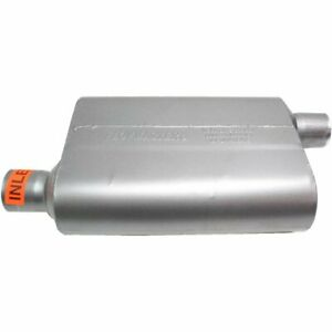 New Flowmaster Muffler 40 Series 2 1 4 Inlet 2 1 4 Outlet Stainless Steel