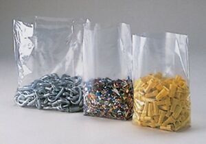 100 8x4x18 Clear Gusseted Open Top Poly Bags 8 X 4 X 18 Ldpe 1 Mil