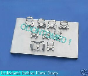 Endodontic Rubber Dam Clamp With Tray Surgical Dental Instruments odm 581