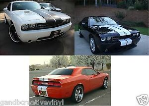 Dodge Challenger 10 Vinyl Rally Racing Stripes Free Shipping 6 10 Stripes