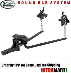 600 Tw 10k Round Bar Bolt together Weight Distribution Trailer Hitch W shank