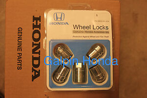 New Oem Wheel Locks Honda Oem 08w42 Shj 101a