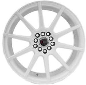 17x9 38 F1r F17 5x100 Full White Wheel Fit Subaru Wrx Legacy Brz 2014 Rims Jdm
