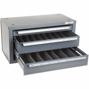 Huot 13350 1 8 To 1 2 End Mill Dispenser Organizer Cabinet