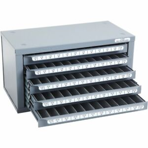 Huot 13550 2 56 To 12 28 Machine Screw Size Tap Dispenser Organizer Cabinet