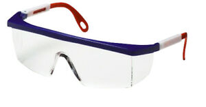 Clear Lens Safety Glasses Red White Blue Frame 12 box 12 Boxes Ms97242