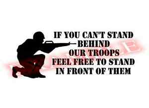 Stand Behind Our Troops Support Military Vinyl Decal Sticker Window Glass Car
