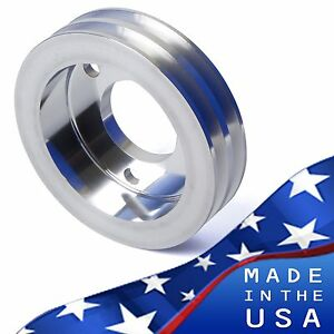 Billet Aluminum Crankshaft Pulley V Belt Swp 396 427 454 Crank Bbc 2 Steering