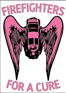 Firefighter Helmet Decals Breast Cancer Firefighters Angel Pink Reflective