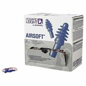 Howard Leight Airsoft Reusable Earplugs Nrr27 W cord 100 box 6 Boxes Ms92275
